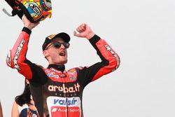 Podio: ganador Chaz Davies, Aruba.it Racing-Ducati SBK Team