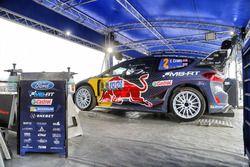 La voiture d'Elfyn Evans, Phil Mills, M-Sport Ford WRT Ford Fiesta WRC