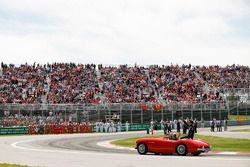 Sergio Perez, Force India, lors de la parade des pilotes