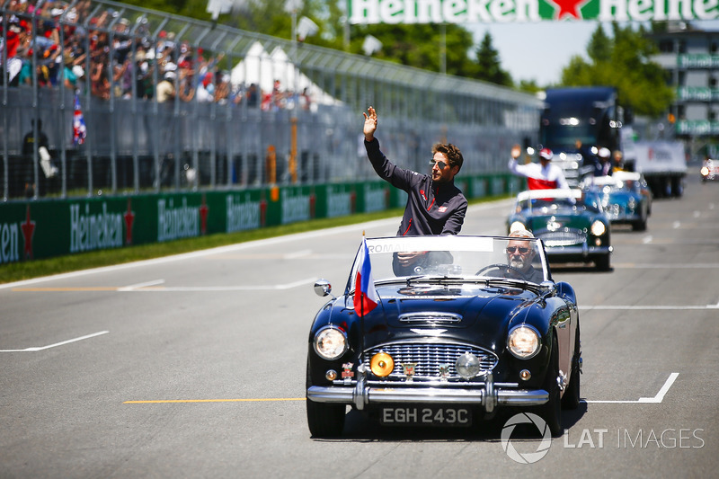 Romain Grosjean, Haas F1 Team, en el drivers parade