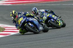 Valentino Rossi, Yamaha Factory Racing; Sete Gibernau, Honda