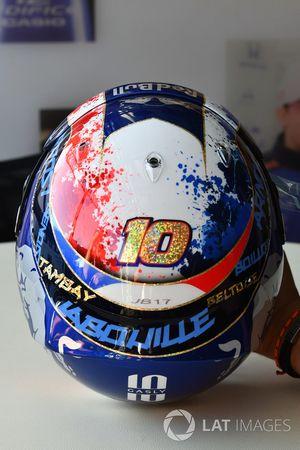 The helmet of Pierre Gasly, Scuderia Toro Rosso