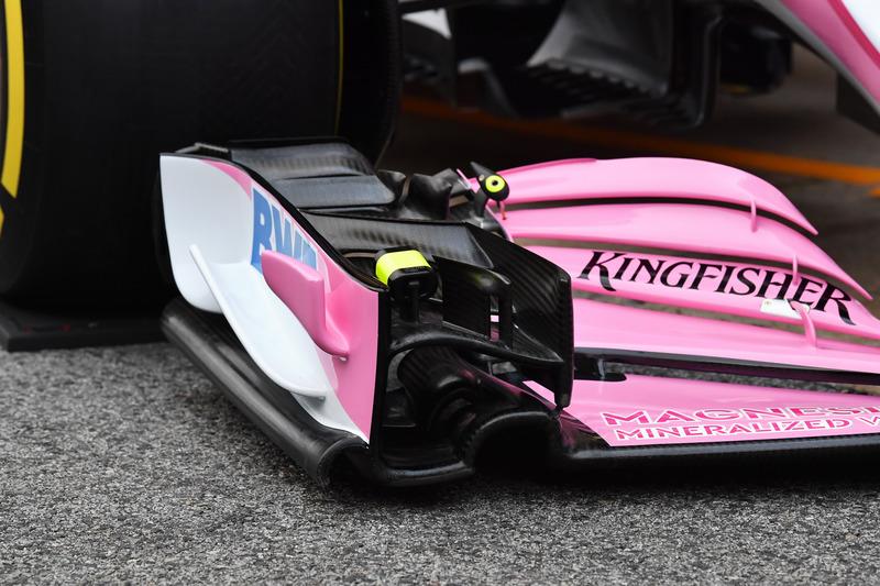 Sahara Force India VJM11, detalle delantero