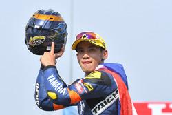 Podium AP250: race winner Anupab Sarmoon, Yamaha Thailand Racing Team