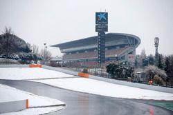Le circuit recouvert de neige