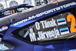 Car of Ott Tänak, Martin Järveoja, Ford Fiesta WRC, M-Sport and Sébastien Ogier, Julien Ingrassia, F