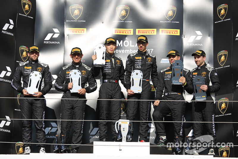 Podium Europe Pro-AM: first place Liang Jiatong, Christopher Dreyspring, VS Racing, second place Jua