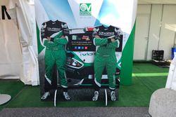 Il cartonato stampato di Ivan Ballinari e Andrea Sacha Togni al Monza Rally Show