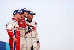 Podium: race winner Daniel Abt, Audi Sport ABT Schaeffler, second place Felix Rosenqvist, Mahindra R