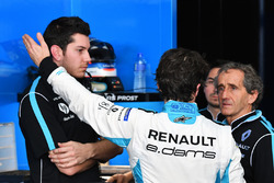 Nicolas Prost, Renault e.Dams, talks wth Alain Prost, Senior Team Manager, Renault e.Dams
