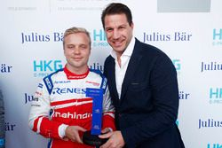 Il Julius Bar Pole Position award viene consegnato a Felix Rosenqvist, Mahindra Racing