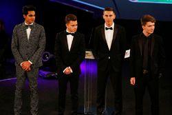 The Young Driver nominees: Enaam Ahmed, Max Fewtrell, Harrison Scott, Daniel Ticktum