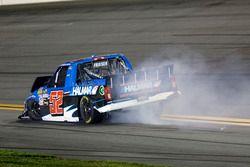 Crash, Stewart Friesen, Halmar Friesen Racing Chevrolet Silverado