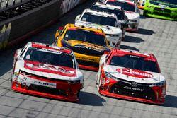 Ryan Preece, Joe Gibbs Racing, Toyota Camry Rheem and John Hunter Nemechek, Chip Ganassi Racing, Chevrolet Camaro Fire Alarm Services, Inc