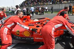 Sebastian Vettel, Ferrari SF71H lors de la parade des pilotes