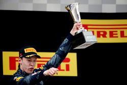 Daniil Kvyat, Red Bull Racing, third place, on the podium