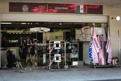 Sahara Force India garage