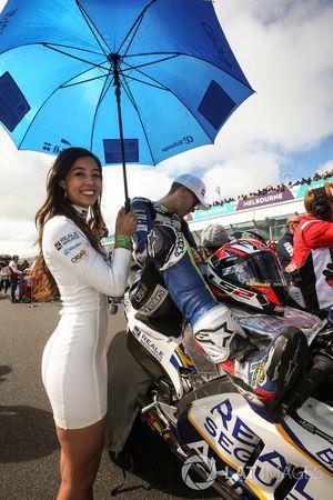 Grid girl of Loris Baz, Avintia Racing