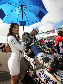Grid girl of Loris Baz, Avintia Racing