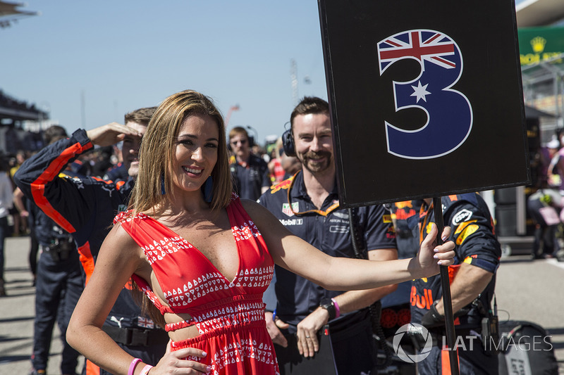Grid girl at United States GP