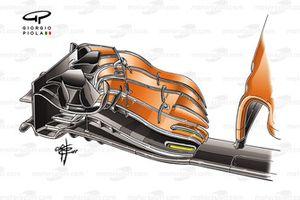 McLaren MCL32 detail front wing