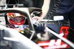 Kevin Magnussen, Haas F1 Team, in his cockpit