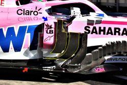 Force India VJM11, dettaglio dei deflettori