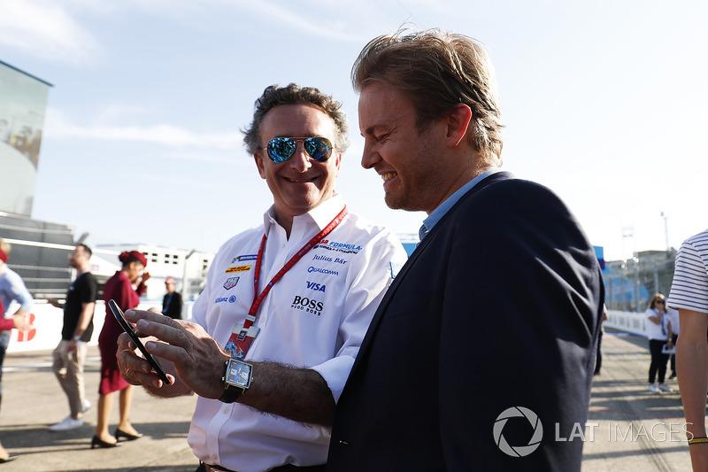 Alejandro Agag, PDG de la Formule E, Nico Rosberg, Champion du monde de Formule 1 et investisseur en Formule E