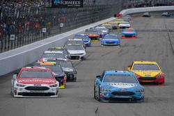 Kevin Harvick, Stewart-Haas Racing, Ford Fusion Busch Beer, Paul Menard, Wood Brothers Racing, Ford Fusion Motorcraft / Quick Lane Tire & Auto Center, Joey Logano, Team Penske, Ford Fusion Shell Pennzoil