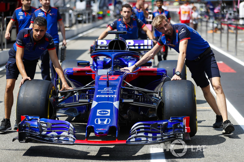 La voiture de Brendon Hartley, Toro Rosso STR13