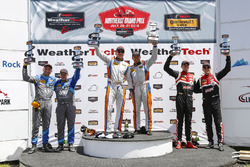 GS Podium, #46 Team TGM, Mercedes-AMG, GS: Hugh Plumb, Owen Trinkler, #33 Winward Racing / HTP Motorsport, Mercedes-AMG, GS: Russell Ward, Damien Faulkner, #28 RS1, Porsche Cayman GT4 MR, GS: Dillon Machavern, Spencer Pumpelly