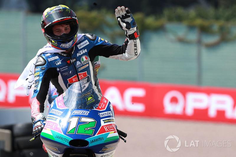 Second place Marco Bezzecchi, Prustel GP