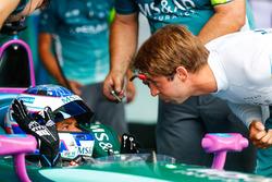 Stéphane Sarrazin, Andretti Formula E Team, talks to Antonio Felix da Costa, Andretti Formula E Team