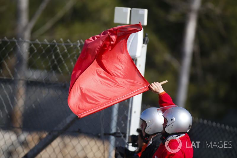 Marshall waves a red flag