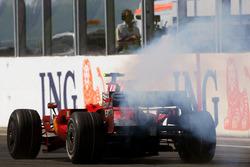 Felipe Massa, Ferrari F2008 valt uit