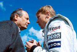 Ron Dennis, Mclaren Boss with Mika Hakkinen