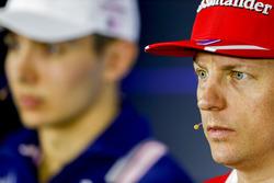 Kimi Raikkonen, Ferrari, Esteban Ocon, Force India