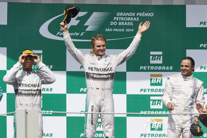 2014 : 1. Nico Rosberg, 2. Lewis Hamilton, 3. Felipe Massa