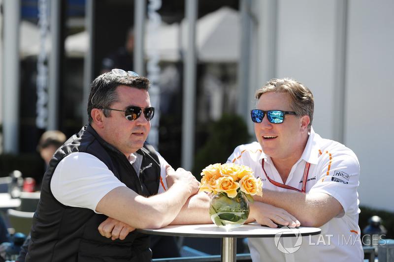 Eric Boullier, Racing Director, McLaren, Zak Brown, Executive Director, McLaren Technology Group