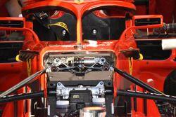 Ferrari SF71H, dettaglio della sospensione anteriore