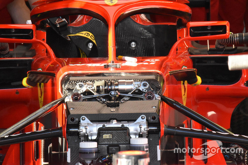 Ferrari SF71H front suspension detail