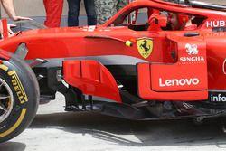 Detalles de los pontones del Ferrari SF71H