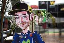 Una caricatura di Valentino Rossi, Yamaha Factory Racing