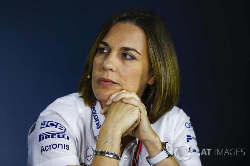 Claire Williams, subdirectora del equipo, Williams Martini Racing, en la conferencia de prensa de los directores del equipo