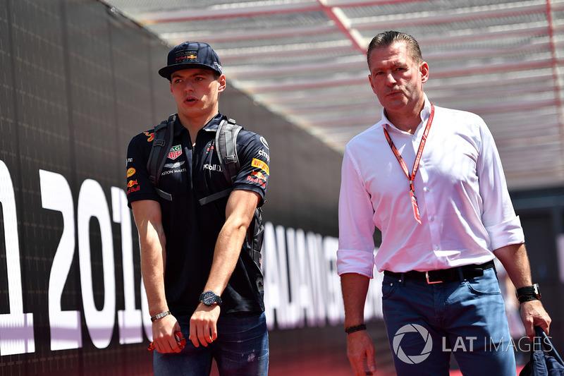 Max Verstappen e o pai Jos em Baku