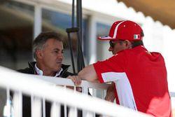 Jean Alesi, et Kimi Raikkonen, Ferrari