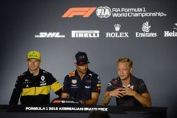 Nico Hulkenberg, Renault Sport F1 Team, Daniel Ricciardo, Red Bull Racing y Kevin Magnussen, Haas F1