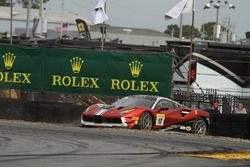 #10 Ferrari of Vancouver Ferrari 488: Murray Rothlander crash
