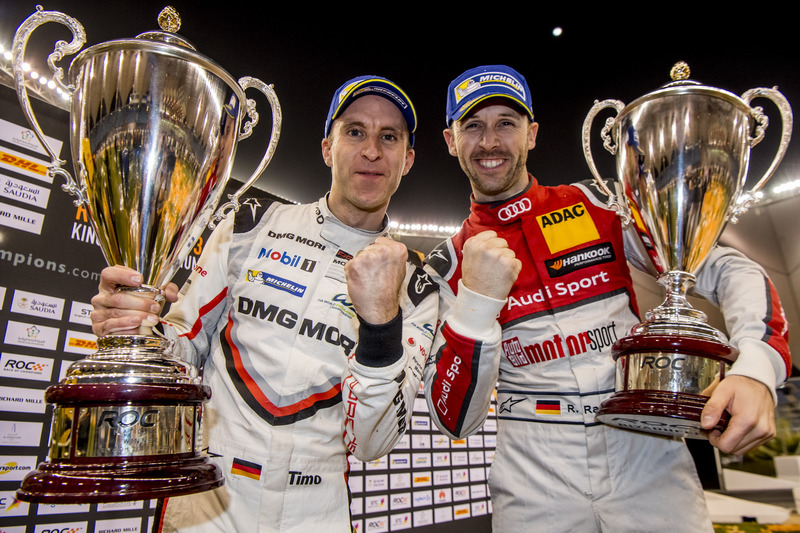 Rene Rast e Timo Bernhard, Team Germany, festeggiano