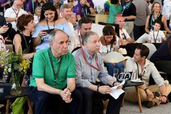 Jean Todt watches the race